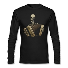 The Piano Accordion Blues Shirts men Perfect Inexpensive Skull Organist Shirt 90s Designs Short t-shirt Brother Costumes(China)
