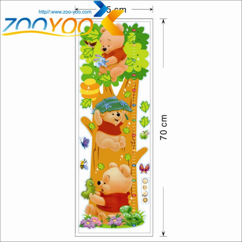 HTB1FGyrhJzJ8KJjSspkq6zF7VXaG - Baby Bear Cartoon DIY Wall Stickers For Kids Children Room Decaor 3d Window Bear Winnie Pooh Nursery Wall Decals
