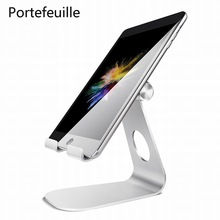 Portefeuille Tablet Stand Holder Aluminum Dock for iPad Pro 9.7 10.5 12.9 Air mini 2 3 4 iPhone 8 7 Plus X 6 Mobile Phone Holder(China)