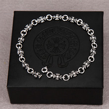 2017 Men & Women Fashion Cross Bracelets Couple Silver Plated Bracelet