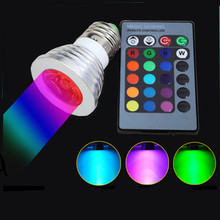 2017 New E27 RGB Ampoule LED Bulb With Remote Controller 85-265V Color Change Spotlight Lampada LED Ampoule Bulb for Home Bar