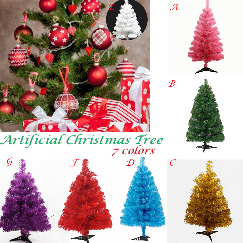 60cm Artificial Christmas Tree Plastic Snowflake Xmas Tree New Year Christmas Home Ornaments Desktop Decorations