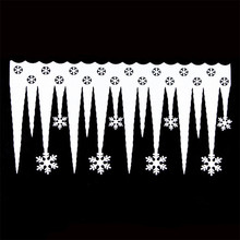 2pcs/set Christmas Ornaments White Foam Snowflake Ice Strips Garden Holiday Decoration New Holidays Supplies