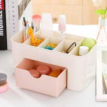 1Pc Drawer Durable Plastic Makeup Jewelry Office Table Desktop Debris Cosmetic Drawer Style Holder Storage Box #45