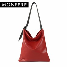 Buy MONFERE real genuine leather bag casual hobo soft skin cowhide shoulder bags leisure large luxury handbags women bags designer for $54.12 in AliExpress store