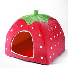 Indoor House Mat Kennel Nest Cage Strawberry Design Dog House For Pet Cat Dogs Hot Selling