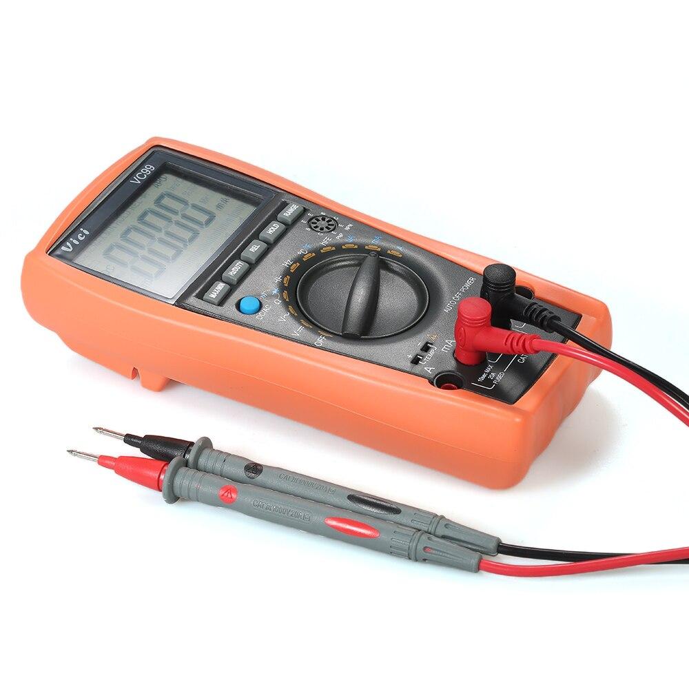 Digital Multimeter Auto Range MASTECH Voltmeter DC/AC Voltage Current Meter Capacitance Resistance Diode Tester DMM LCD<br>