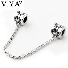 Hot Sale Woman Man DIY Charms Beads fit for Charm Necklace Bracelet Safety Chain(China)