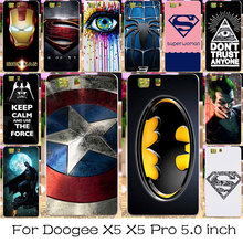 TAOYUNXI Silicone Phone Cover Case For Doogee X5 X5 Pro Doogee X5S 5.0 inch Captain American Bag Shell For Doogee X5 Pro Case(China)