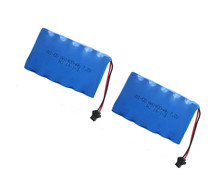 2pack 7.2v battery 1400mah ni-cd 7.2v AA battery nicd batteries pack ni cd rechargeable for RC boat model car electric toys tank(China)