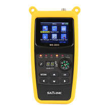 SATLink WS-6933 2.1 Inch LCD Display DVB-S2 FTA C&KU Band DVB-S DVB-S2 Digital Satellite Finder Meter Portable HOT SALE