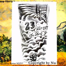 Nu-TATY Forever 23 Temporary Tattoo Body Art Flash Tattoo Stickers 21*15cm Waterproof Tatoo Car Styling Home Decor Wall Sticker