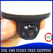 50PCS Wholesale Mini CCD Coms HD Night Vision 360 Degree Car Rear View Camera Front Camera Front View Side Reversing(China)