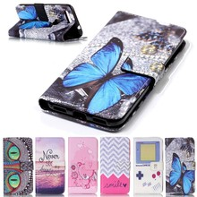 Flip Cases Cover For Google Pixel Wallet Case Leather Bags Coque Capinha Etui Funda Capa Butterfly Beer Dream Catcher Smile Wave