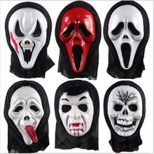 Halloween Mask Masquerade Horror Latex Party Dress Skull Ghost Scary Scream Mask Face Hood For Adult Funny 7 Styles Plastic