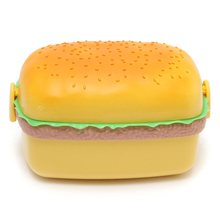 New Arrival!! Cute 700ML Huge Hamburger Shaped Canteen Box Bento Food Outdoor Picnic Container Storage With Scoop For Kid School
