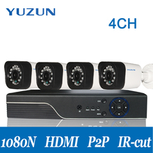 AHD CCTV  security camera kit survelliance system  Camera  night vision  4 channel  dvr kit 1080P 960p  720P camera optional