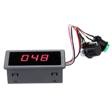 Digital LED DC Motor Speed Controller PWM Stepless Speed Control Switch With Digital Display DC 6V 12V 24V Max 8A Motor