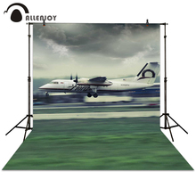 Allenjoy photography backdrop airplane slide grass sky backgrounds newborn backdrops background for photo studio
