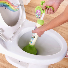 1 Piece Candy Handle Powerful Suction Plunger Toilet Dredger Cleaner Drain Buster with Suckers for Sink Cleaning Tool TRQ241(China)
