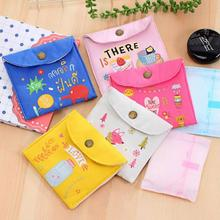 Girl Canvas Diaper Sanitary Napkin Storage Bag Sanitary Pads Towel Menstrual Sanitary Aunt Bag Key Coin Purse Credit Card Pouch