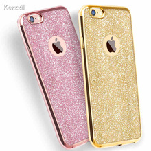 Kerzzil Luxury Clear TPU Phone Case For iPhone 7 & 8 Plus 6 6s 6 Plus SE X 5s Silicone Soft Plating Back Cover With Bling Card(China)