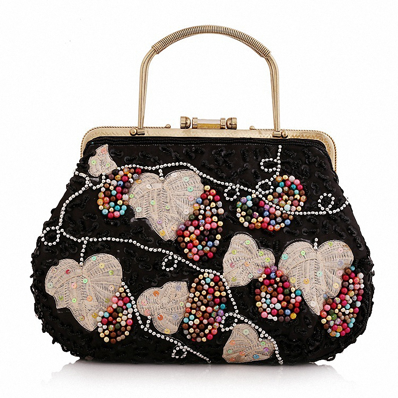 2016 Hot Style Women Day Clutch Handmade Beads Diamond Wedding Party Handbag Evening Bag tote Multi-Style LI-1058<br>