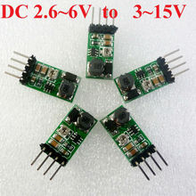 5PCS DC DC Boost Adjustable Converter ( 3V 3.3V 3.7V 4.5V TO 5V 6V 9V 12V 15V ) Power supply Module for Wifi Bluetooth Relay PLC