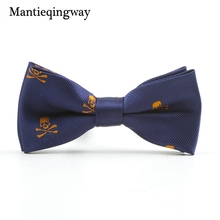Mantieqingway Chritmas Children Bow Tie Accessories Cartoon Elk Bowtie Polyester Bow Tie for Boys Casual Bowknot Skull Bow Ties(China)