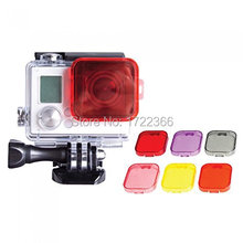 6pcs/Lot GoPro Hero 3 Mini Camcorder Gopro Accessories Polarizer Underwater Dive Lens Filter Accessories