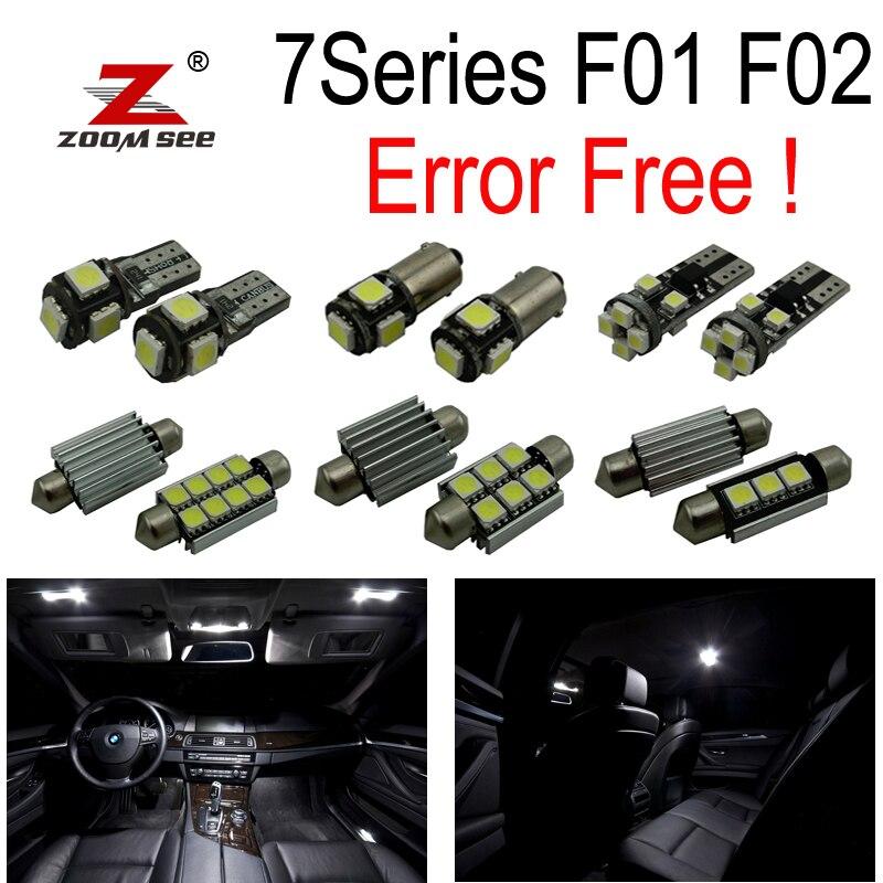 20pc X Error free LED Interior dome Light Kit  for bmw 7 series F01 F02 740Li 740i 750Li 750i 760Li 750Li xDrive (09-15)<br>