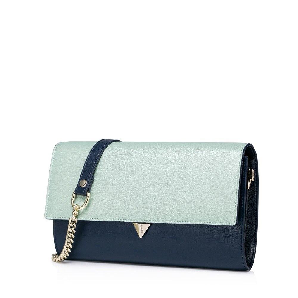 New 2016 Womens Color Block Cowhide Leather Convertible Evening Bag Clutch Handbag Shoulder Purse Crossbody Small Flap Bag<br><br>Aliexpress