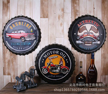 10pcs/lot Iron retro decorative Retro Motorcycle Car Gasoline Motor Tin Metal Sign Soda Pop Drink Kitchen Home Decor 50cm 20""