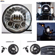 Adaptive Cornering Headlights For Harley Davison 7 inch Harley Motorcycle Projector Daymarker Headlight Led Light