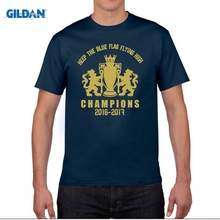 GILDAN funny men t shirt of the 16-17 Premier League jersey Terry Eden Hazard Diego Costa Blue is the Colour(China)