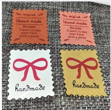 Various stample series diy handmade sticker labels jewelry/gifts package sticker lables 1000pcs custom logo cost extra(China)