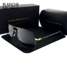 Blanche Mens Sunglasses Men Polarized Luxury Brand HD Sun glasses For Men vintage Driving Eyewear 2017 oculos masculino with box