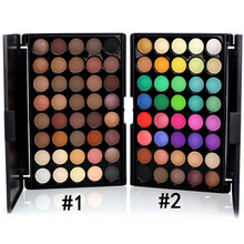 10% 40 Colors Smoky Matte Eyeshadow Pallete Mixed Color Baking Powder Eye Shadow Palette Naked Nude Glitter Cosmetic Set bbr