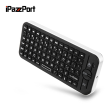 iPazzPort KP - 810 - 16BR Mini Wireless Bluetooth 3.0 QWERTY Keyboard with Touchpad for iOS System / iPad / iPhone / Apple TV(China)