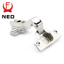 10PCS Brand NED 45 Degree Corner Fold Cabinet Door Hinges 45 Angle Hinge Hardware For Home Kitchen Bathroom Cupboard With Screws(China)
