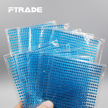 3mm 750Pcs/set Personality Light Blue Rhinestones 3D Decor Decal Styling Accessories Mobile/PC Art Self Adhesive Stickers