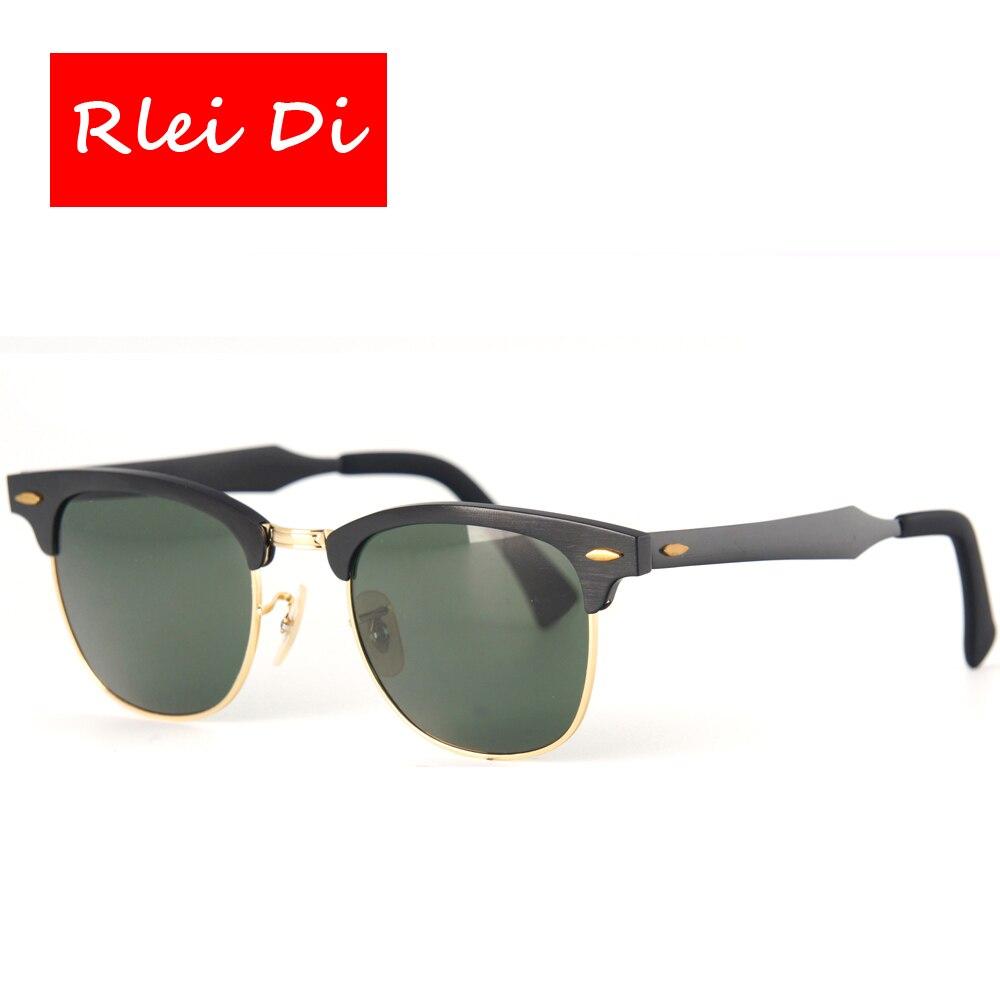 RLEI DI Best Quality Retro Top Gade Sunglasses Men Women Aluminum frame Glass Lens UV400 Protection Fashion Traveling Sunglasses<br><br>Aliexpress
