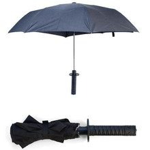 Cool Samurai swords folding umbrella sword creative Half self-opening umbrella Wind uv protection Deadpool Umbrella YS218