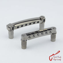 1 Set Black Nickel GuitarFamily Tune-O-Matic Electric Guitar Bridge And Tailpiece For Epiphone Schecter LTD