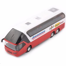 1/32 scale diecast car model New York Red Double Decker Sightseeing Tour Bus 1/32 Diecast Model Collectionable W light&sound(China)