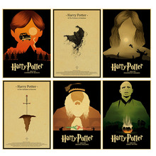 New Harry Potter movies poster series Magic world Home home Furnishing decoration Kraft Poster Drawing core Wall stickers(China)