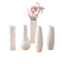 Home Office Decor Classic White Ceramic Vase Chinese Arts And Crafts Wedding Party  Decor Porcelain Flower Vase Creative Gifts