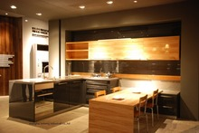 High gloss/lacquer kitchen cabinet mordern(LH-LA027)
