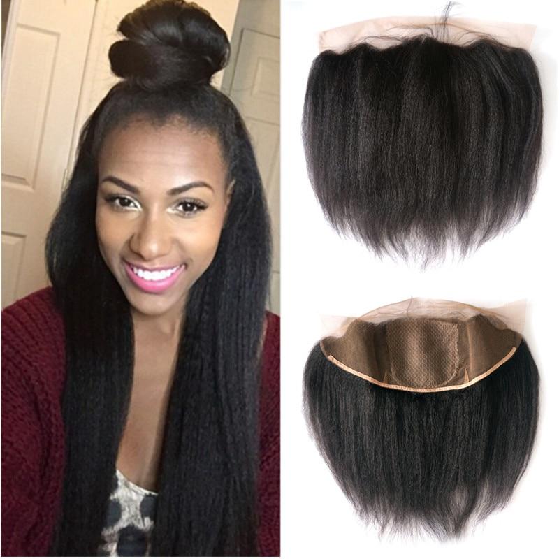 Silk Base Frontal Lace Closure Brazilian Virgin Hair Silk Base Frontal Italian Yaki 13x4 Ear To Ear Lace Frontals With Baby Hair<br><br>Aliexpress