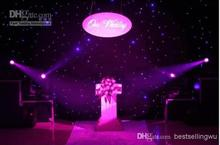 High Quality Blue - White Colors Shiny LED Star Curtain Wedding Backdrop Decoration Cloth With DMX 512 Controller(China)